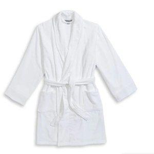 NWT Gluckstein Home white bamboo cotton robe c2